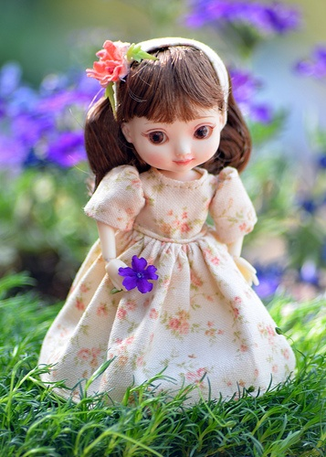 Amelia Thimble Dress, Spring in the Garden