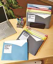 Write-On Poly Organization Folders