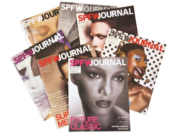Edição de arte e design do SPFW Journal, publicação do Núcleo de conteúdo da Luminosidade.