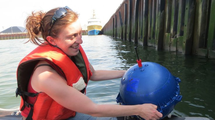 Autonomous buoy for bathymetric mapping in river.