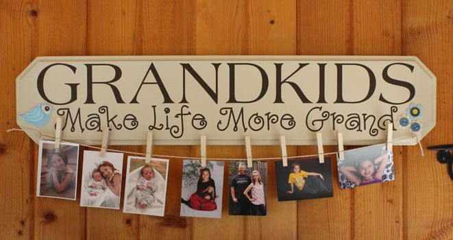 Primitive Wooden Fall Items | ... > Grandkids Make Life Grand, Family Wall Art Primitive Wood Signs