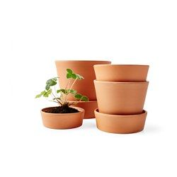 "INGEFÄRA Plant pot with saucer, outdoor indoor/outdoor, terracotta - outdoor/terracotta - 4 ¾ "" - IKEA"