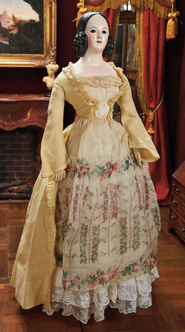 View Catalog Item - Theriault's Antique Doll Auctions, papier mache
