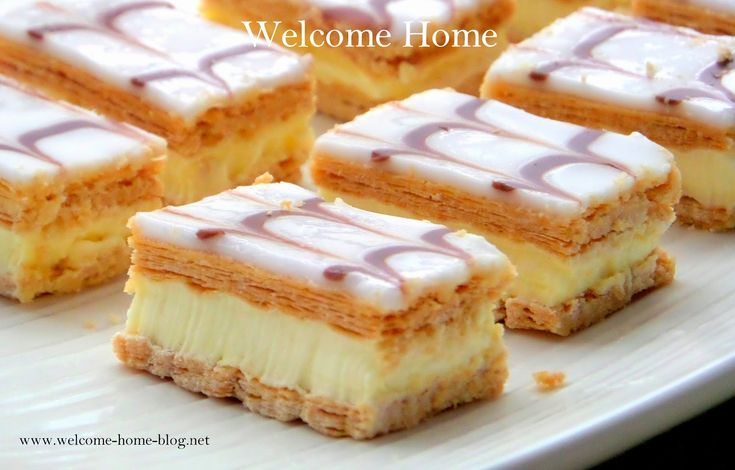 Welcome Home Blog: ♥ Custard Filled Neapolitans