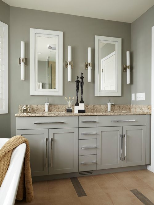 Sabre Gray Benjamin Moore · Bathroom ColorsBathroom IdeasKitchen ...