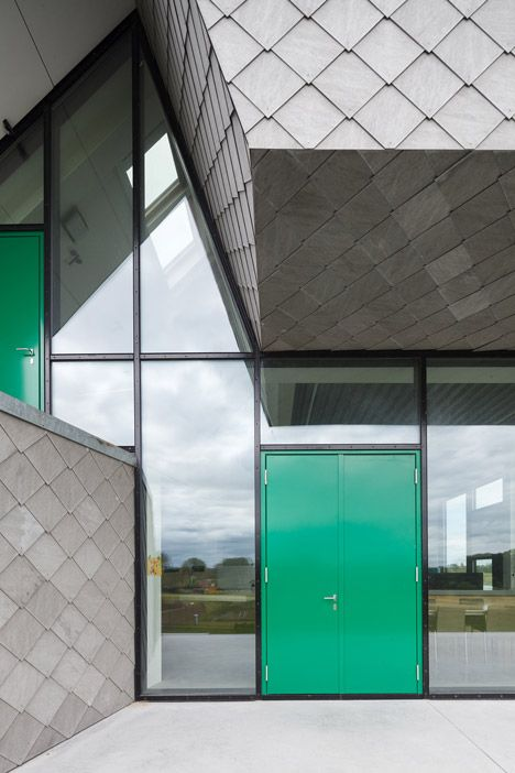 Fiber Cement Shingled Tile Leeuw House by NU architectuuratelier