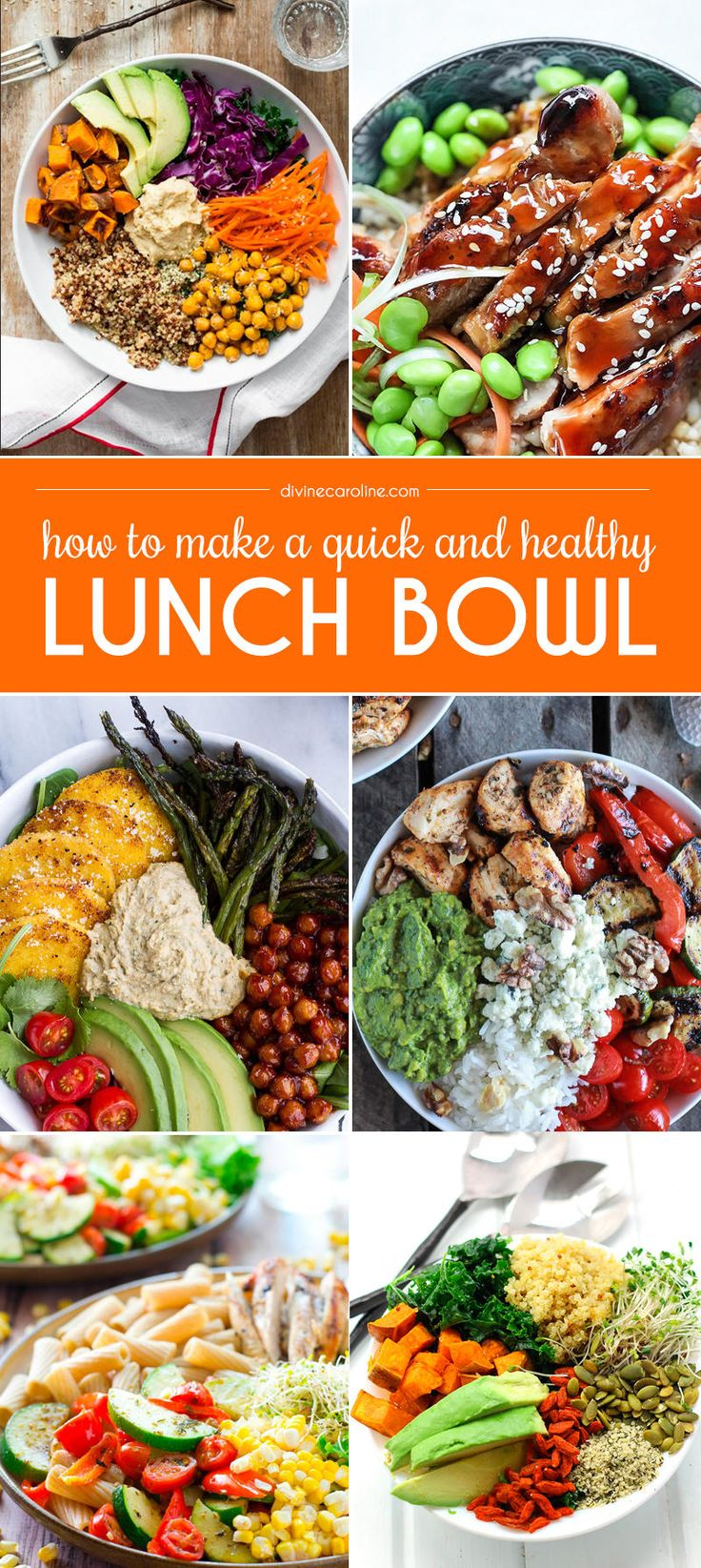 Ditch your boring sandwich or salad. Try a healthy lunch bowl that is filling, balanced, and nutritious instead.
