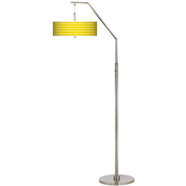 vivid yellow stripes giclee arc floor lamp 200 liked on polyvore featuring home