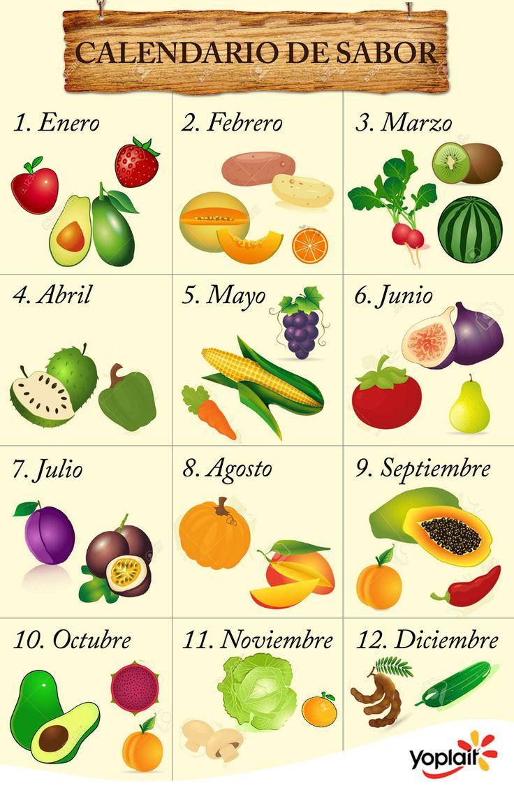 De enero a diciembre, descubre cuáles son las #frutas y #verduras del mes. #VidaSana #Salud #ComidaSaludable #EstiloDeVida