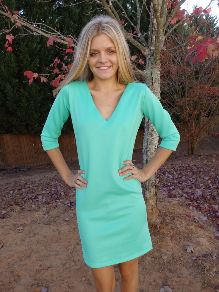 Green Topaz Shift Dress