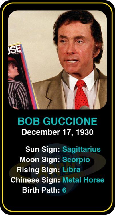 Celeb #Sagittarius birthdays: Bob Guccione's astrology info! Sign up here to see more: https://www.astroconnects.com/galleries/celeb-birthday-gallery/sagittarius?start=150 #astrology #horoscope #zodiac #birthchart #natalchart #bobguccione