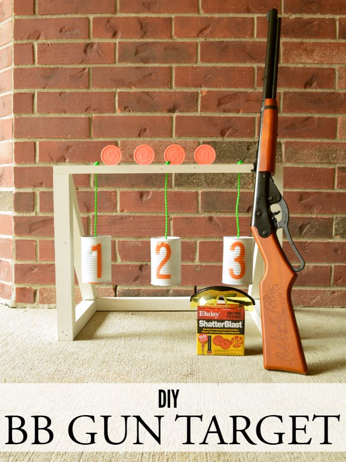 Get the kids outdoors and help them perfect their shot with this fun DIY BB gun…