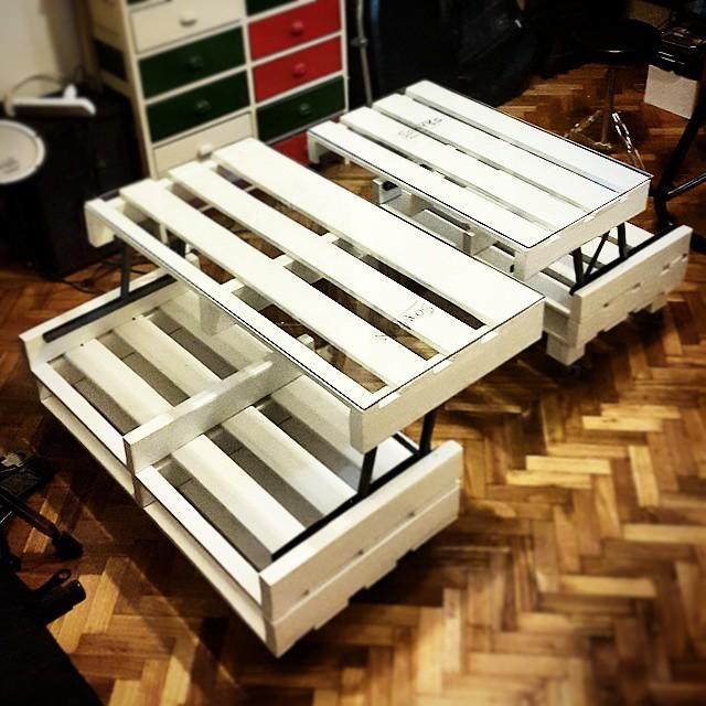 cmo hacer una mesa elevable con palets