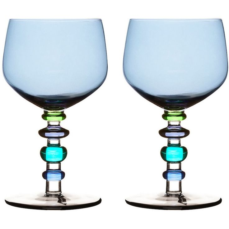 Beautiful coloured glasses for every occasional with jewel like stems by Sagaform