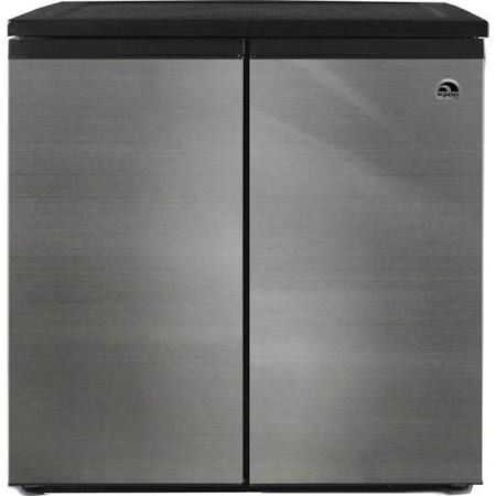 Igloo Refrigerator 33 in. W 5.5 Cu. ft. Side by Side Refrigerator in Silver, Counter Depth Stainless FR551