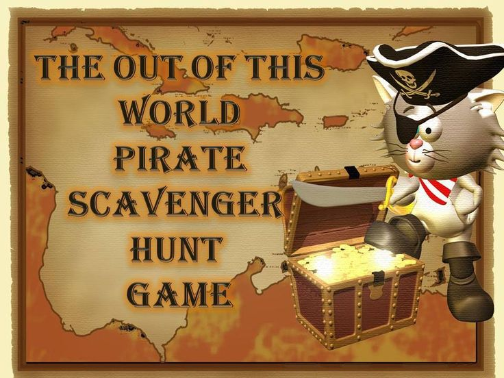 Pirate scavenger hunt game