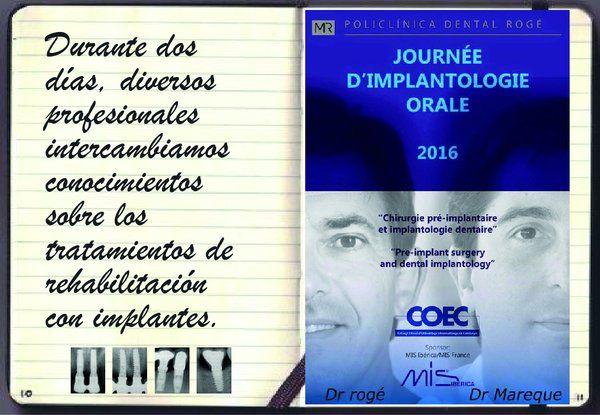 En la Jornada anual de Implantología Oral COEC-MIS, celebrada en Francia, el Dr. Javier Mareque (Maxilonet) habló sobre el tratamiento del sector posterior mandibular atrófico. Otros avances sobre la mesa (customización de los implantes, planificación 3D, biomateriales sintéticos / fibra de carbono, células madre y odontología solidaria)
