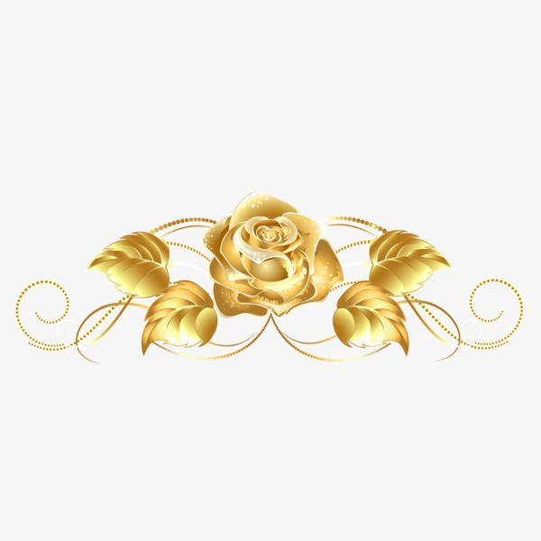Gold Rose Patterns Png And Clipart Floral Border Design Flower Stencil Rose Clipart