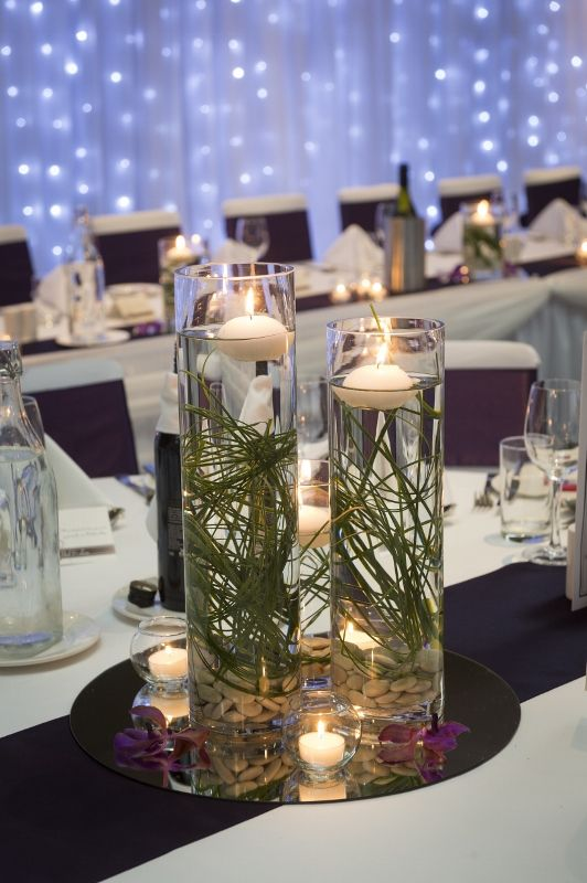 Some creative table features at our country club for Lisa's wedding.   Call (07) 3410 4001 for enquiries.