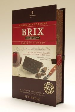 """Wine anyone?  Brix Chocolate knows a thing or two about wine... Hear all about our """"gourmet"""" packaging design for Brix in Food Processing's latest article."""