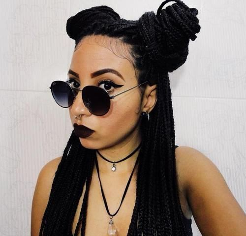 Hairstyles With Box Braids