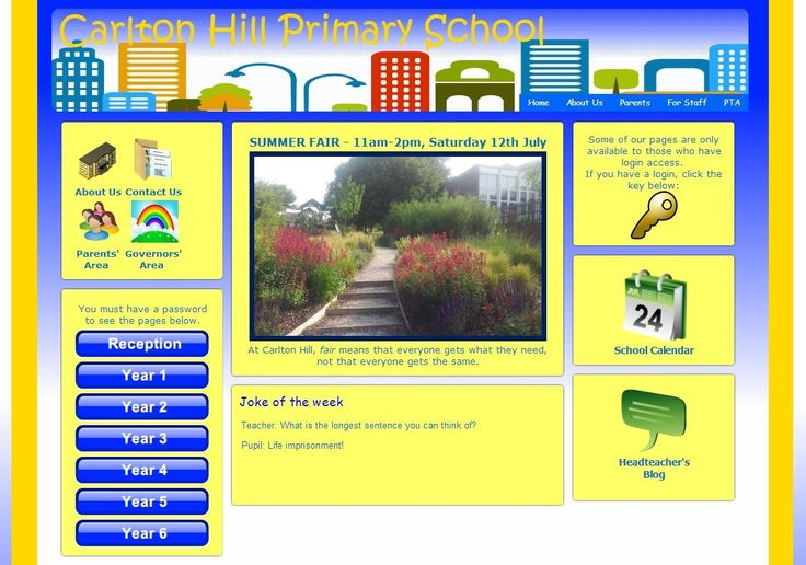Carlton Hill Primary School in Brighton make information clear and easy to access for parents and visitors.