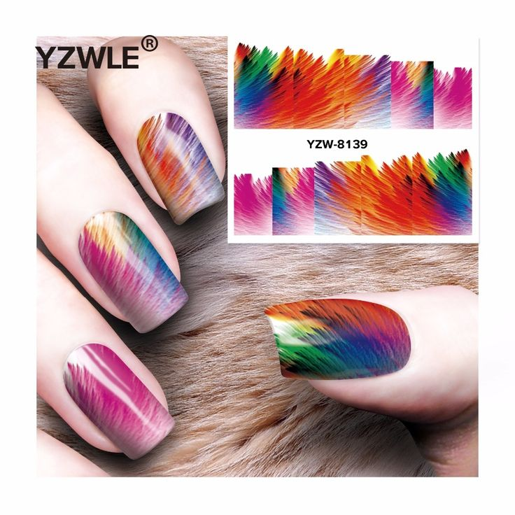 0.1$  Buy here - http://aibz5.worlditems.win/redirect/32665318008 - YZWLE 1 Sheet DIY Decals Nails Art Water Transfer Printing Stickers Accessories For Manicure Salon  YZW-8139   #buymethat