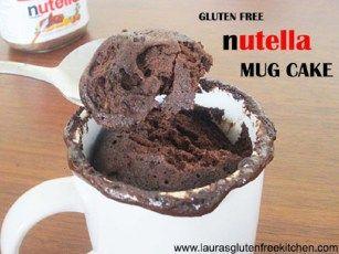 Gluten Free Nutella Mug Cake - Lauras Gluten Free Kitchen