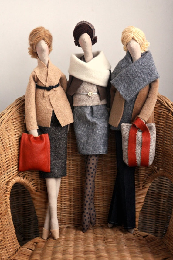 Such sophisticated little dolls from #madebyagah, $39