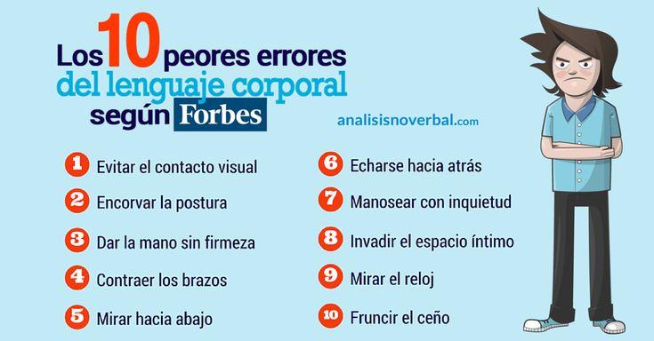 Los 10 peores errores del lenguaje corporal