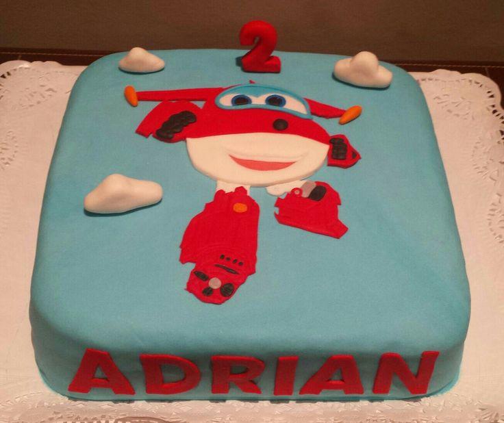 Tarta de los Super Wings, para celebrar el segundo cumpleaños de Adrián!