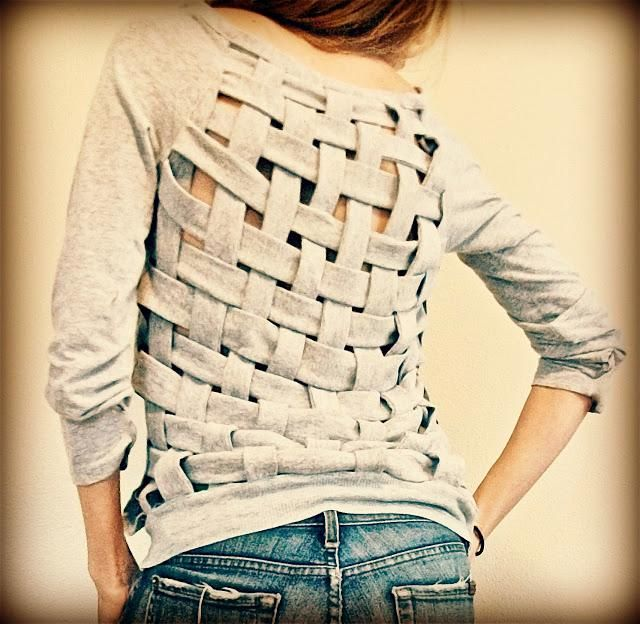 DIY Clothes Refashion: How to Basket Weaving old T-shirt
