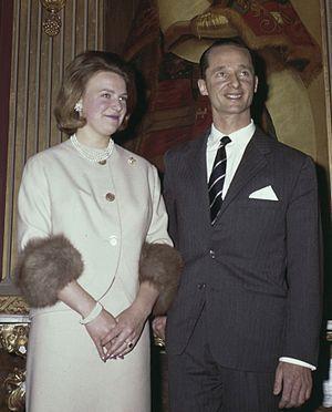 Carlos Hugo and Princess Irene in 1964.