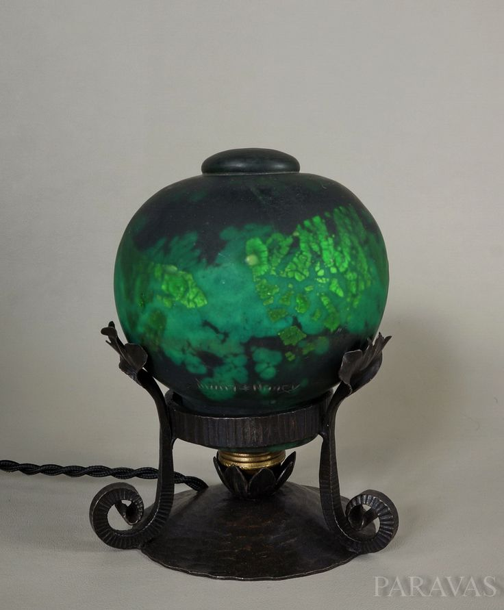 A French 1930 art deco night lamp by la maison Hettier   Vincent in wrought  iron98 best French art deco table lamps images on Pinterest   French  . Antique French Lamps On Ebay. Home Design Ideas