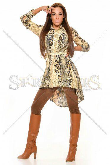 MissQ Sneaky Choice Brown Shirt