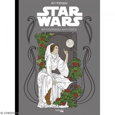 Livre coloriage adulte anti-stress - A4 - Star Wars - 100 coloriages - Photo n°1