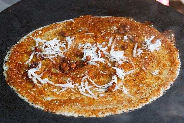 Kauk Mote (Burmese Folded Pancake of Red Beans & Coconut)