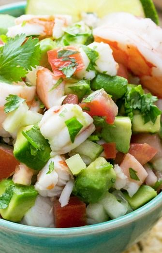 Beauty in Balance: Shrimp Avocado Salsa Seafood: The iodine in shrimp is good for the proper functioning of the thyroid gland which controls the basal metabolic rate. Iodine deficiency can result in sluggish thyroid activity which in turn can lead to weight gain or hinder weight loss. This works for vegetarians who allow fish in their diets. It's gluten free if you use gluten free corn chips.