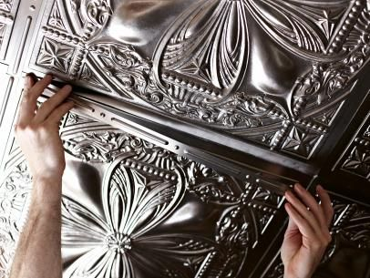 Get the look of 1920's glamour on your ceiling with step-by-step instructions for applying real-looking fake tin tiles. Learn how on DIYNetwork.com.