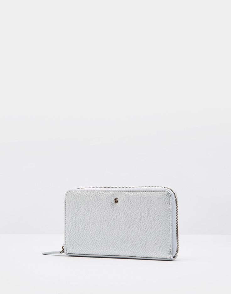 Fairford brght Silver Purse , Size One Size | Joules UK