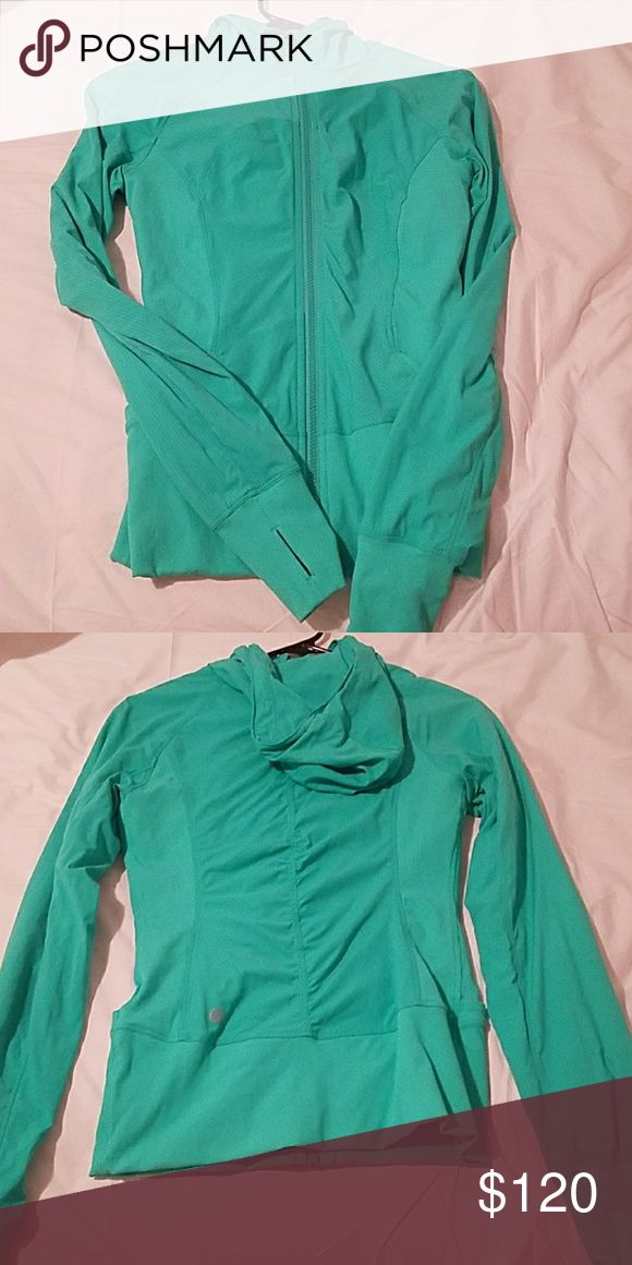 Lululemon in flux jacket 6 Bali breeze Lululemon in flux jacket Bali breeze size 6 in very good used condition lululemon athletica Jackets & Coats