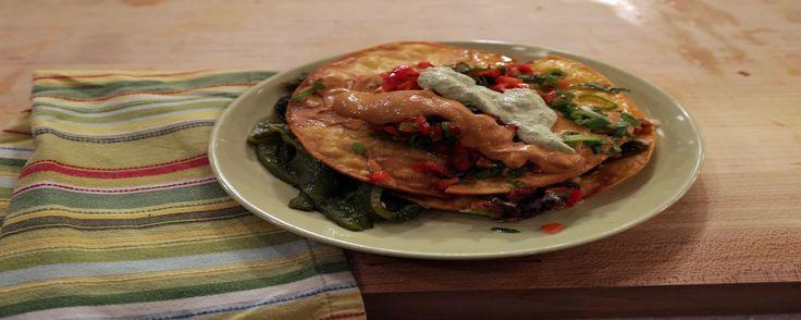 Chorizo Tostadas Recipe   The Chew - ABC.com