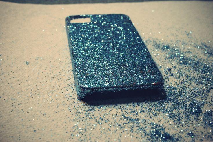 DIY glitter iPhone case - this was a fail 0_o