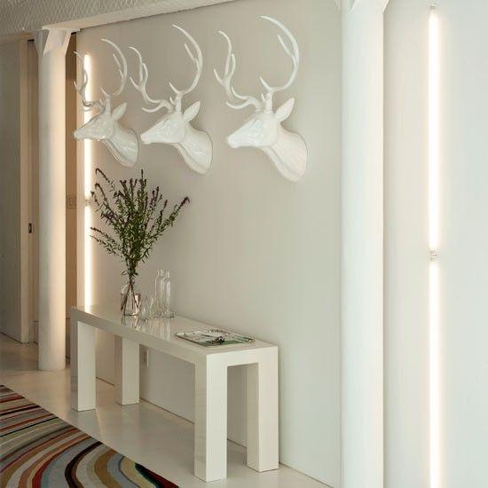 Flur Diele Wohnideen Möbel Dekoration Decoration Living Idea Interiors home corridor - Modernen weißen Flur