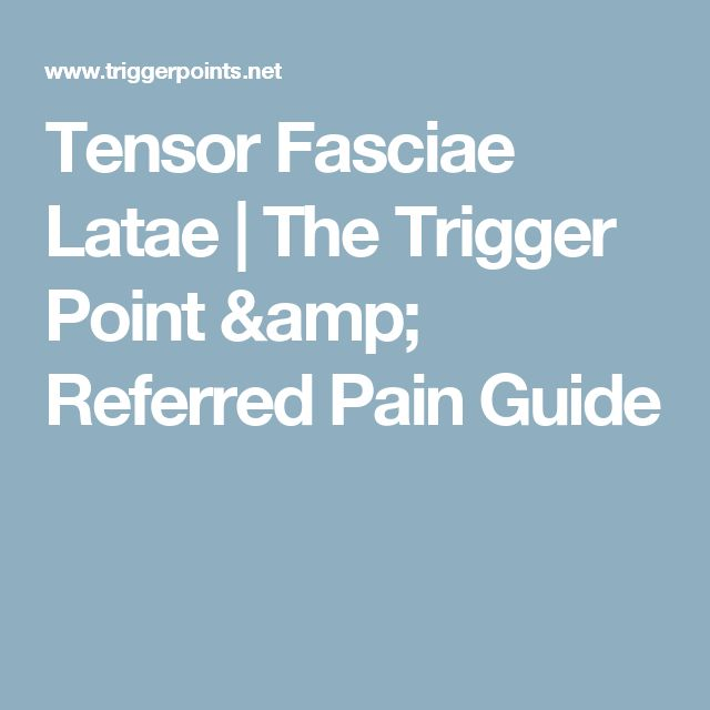 Tensor Fasciae Latae   The Trigger Point & Referred Pain Guide
