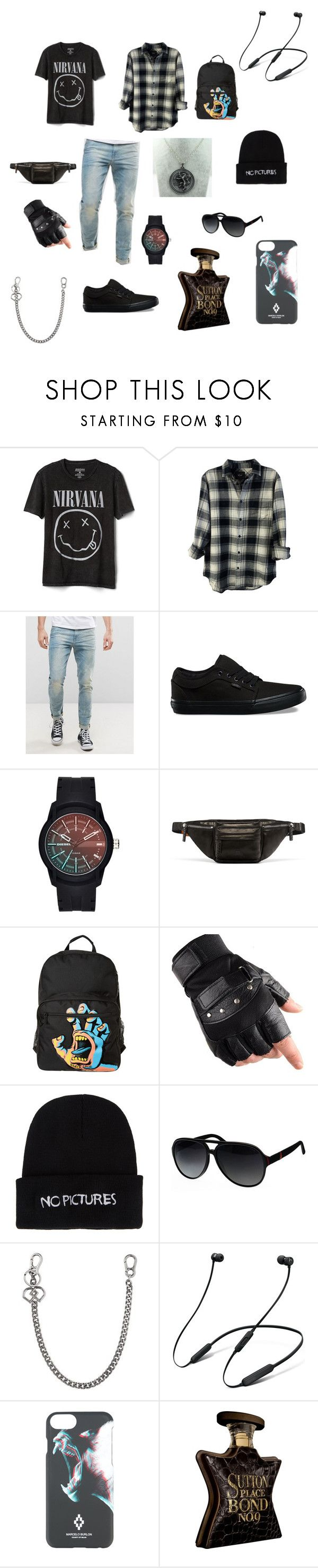 """Emo swag"" by lizjade ❤ liked on Polyvore featuring Gap, Rails, ASOS, Vans, Diesel, MCM, Santa Cruz Skateboards, Nasaseasons, Gucci and Dsquared2"