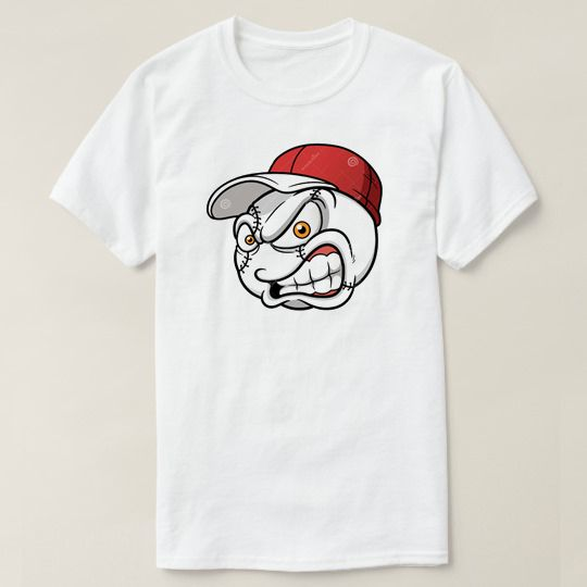 Baseball Cartoon Ball Custom Shirts