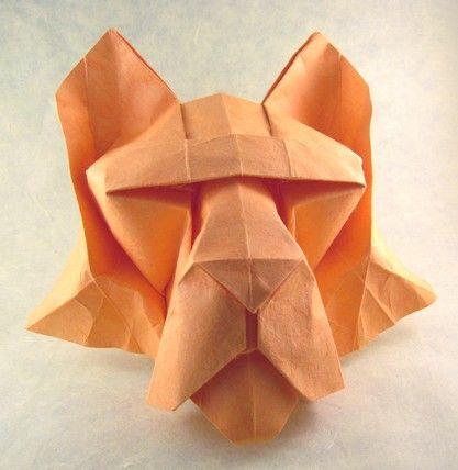 origami Tiger Mask 3D