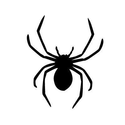 black widow spider stencil
