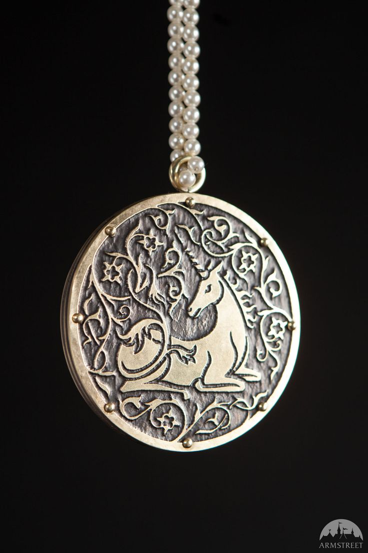"""Medieval Mirror In Pouch """"Unicorn""""   Beautiful Cases For G"""